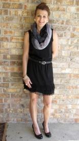 Same dress with heels.
