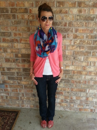Spring transition w/scarf